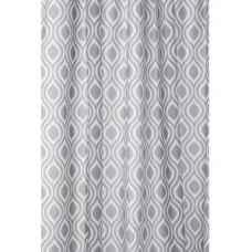 Grey Medallion Shower Curtain