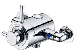 Thermostatic Exposed Shower Valve c/w Overhead and Flexible shower kit