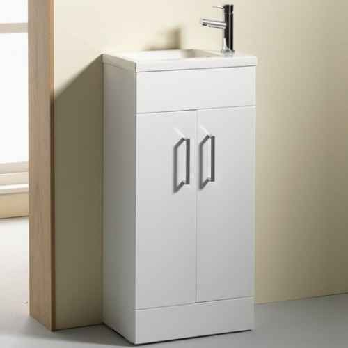 Eden 40 unit and basin gloss white for Bathroom cabinets 400mm wide