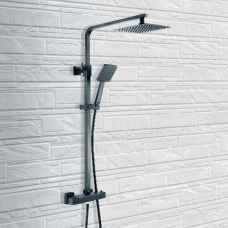 Black Thermostatic shower Square