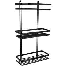 Triple rectangular shower caddy
