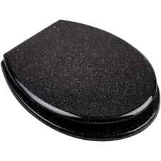 Black Glitter toilet seats