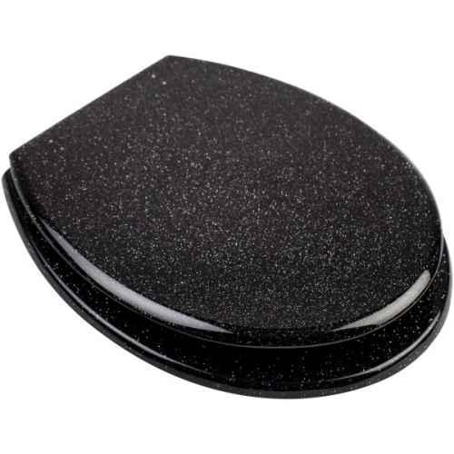 Black Glitter Toilet Seats