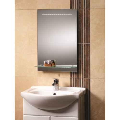 bologna led mirror and glass shelf. Black Bedroom Furniture Sets. Home Design Ideas