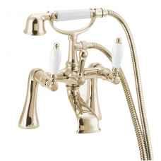 Georgian bath shower mixer Gold