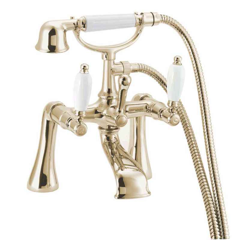 Georgian Gold traditional style bathroom taps