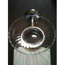Angelique chrome glass soap dish