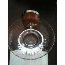 Antique Pine glass soap dish