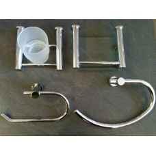 Infinity 4 piece bathroom accessories set