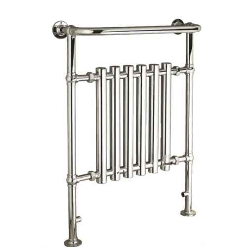 Leo heated towel rail chrome Traditional bathroom accessories chrome