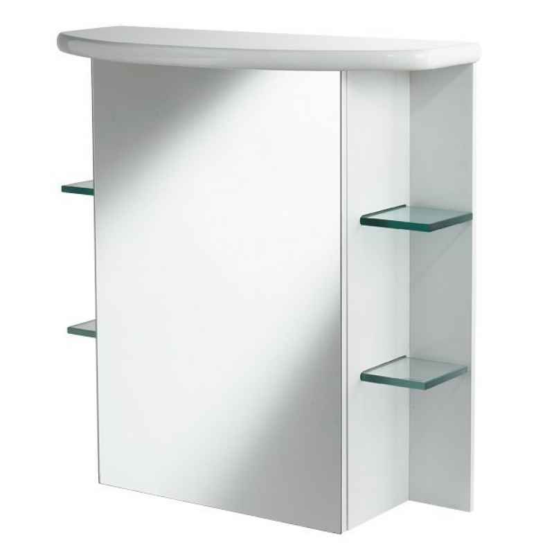 White wood bathroom cabinets