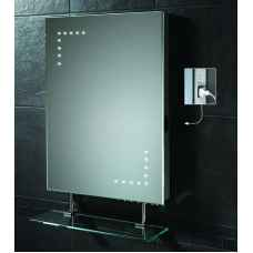 Celeste LED mirror with shaver socket