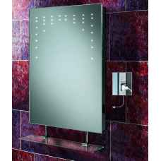 Rain LED mirror with shaver socket