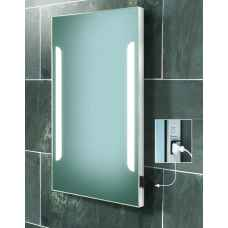 Zenith fluorescent backlit mirror with shaver socket