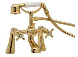 Tudor bath shower mixer Gold