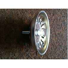Chrome strainer plug with pin