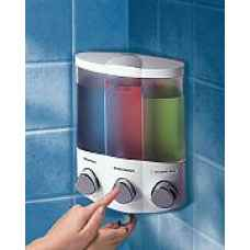 Trio corner soap dispenser